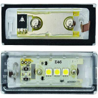 Feu éclaireur de plaque Version LED BMW Série 3 (E46) de 98 à 06 - OEM : 63216912516