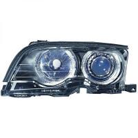 Set de deux phares principaux noir limpide BMW Série 3 (E46) de 01 à 03