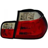 Kit de feux arrières version LED blanc/rouge BMW Série 3 (E46) de 01 à 05