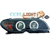 Set de deux phares principaux H7/ H1 noir BMW Série 3 (E46) de 03 à >