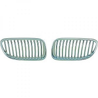 Set grilles de calandre argent chrome BMW Série 3 (E90, E91) de 2010 à >>