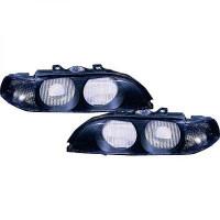 Disperseur simple pour phare gauche BMW Série 5 (E39) de 95 à 00 - OEM : 63128375301