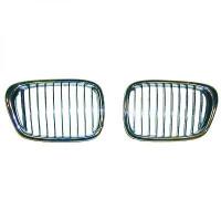 Grille de calandre droit chrome/noir BMW Série 5 (E39) de 01 à 1- - OEM : 51137005838