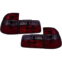 Kit des 4 feux arrières rouge/noir BMW Série 5 (E39) de 95 à 0