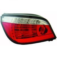 Kit de feux arrières version LED blanc/rouge BMW Série 5 (E60, E61) de 03 à 07