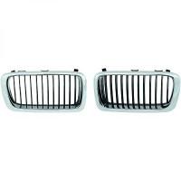 Grille de calandre droit chrome/noir BMW Série 7 (E38) de 94 à 98 - OEM : 51138231594