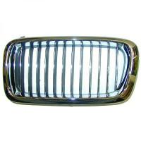 Grille de calandre gauche chrome/noir BMW Série 7 (E38) de 94 à 98 - OEM : 51138231593