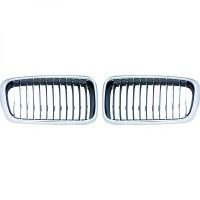 Set grilles de calandres droite et gauche chrome BMW Série 7 (E38) de 95 à 02