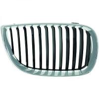 Grille de calandre droit chrome/noir BMW Série 1 (E81, E82, E88) de 04 à 07 - OEM : 51137077130