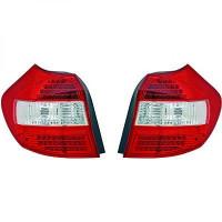 Kit de feux arrières version LED blanc/rouge BMW Série 1 (E81, E82, E88) de 04 à 07