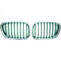 Grille de calandre gauche chrome/noir BMW X5 (E53) de 99 à 03 - OEM : 5113-825-0051