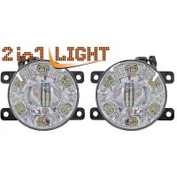 Set de deux antibrouillards chrome FORD FIESTA 5 (JH, JD) de 02 à >>