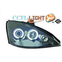 Set de deux phares principaux H1/H1 noir FORD FOCUS 1 de 98 à 00