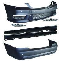 Kit Tuning pare chocs avant arrière bas de caisse MERCEDES CLASSE S (W221) look S65 AMG de 05 à 11