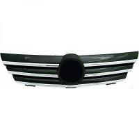 Grille de calandre chrome/noir pour : Sport Look MERCEDES CLASSE C (W203) de 04 à >> - OEM : A2038800383