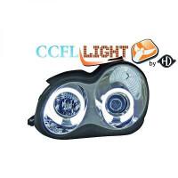 Set de deux phares principaux H1/H1 chrome MERCEDES CLASSE C (W203) de 00 à 07