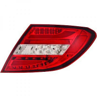 Kit de feux arrières version LED rouge MERCEDES CLASSE C (W204) de 2011 à >>