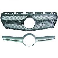 Grille de calandre sans logo pour : Sport Optic MERCEDES CLASSE A (W176) de 2012 à >>