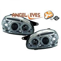 Set de deux phares principaux H1/H1 chrome OPEL CORSA B de 93 à 00