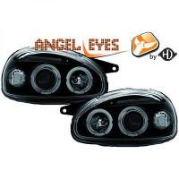 Set de deux phares principaux H1/H1 noir OPEL CORSA B de 93 à 0