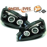 Set de deux phares principaux H1/H1 noir OPEL CORSA C de 00 à 6