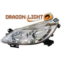 Set de deux phares principaux H1/H1 chrome OPEL CORSA D de 06 à 10