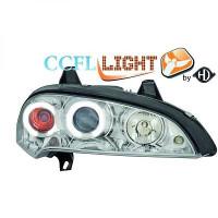 Set de deux phares principaux H1/H1 chrome OPEL TIGRA de 95 à 03