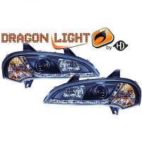 Set de deux phares principaux H1/H1 noir OPEL TIGRA de 94 à >