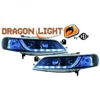 Set de deux phares principaux H1/H1 noir OPEL VECTRA B de 95 à 8