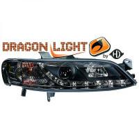 Set de deux phares principaux H1/H1 noir OPEL VECTRA B de 99 à 02