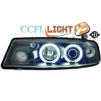 Set de deux phares principaux H1/H1 noir OPEL CALIBRA de 90 à 98