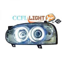 Set de deux phares principaux H1/H1 chrome VOLKSWAGEN GOLF 3 de 92 à 97