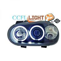 Set de deux phares principaux H1/H1 noir VOLKSWAGEN GOLF 4 de 98 à 02