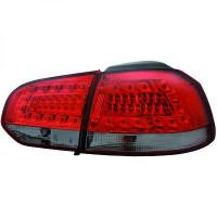 Kit de feux arrières version LED rouge/noir VOLKSWAGEN GOLF 6 de 08 à 12