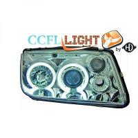 Set de deux phares principaux H1/H1 chrome VOLKSWAGEN BORA de 98 à 05