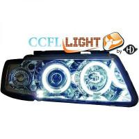 Set de deux phares principaux H1/H1 chrome VOLKSWAGEN PASSAT de 97 à 00