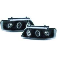 Set de deux phares principaux H1/H1 noir VOLKSWAGEN PASSAT de 96 à 0