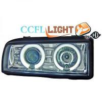 Set de deux phares principaux H1/H1 chrome VOLKSWAGEN CORRADO de 88 à 95