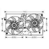 Ventilateur refroidissement du moteur pour numéro OE: 7DB121207 VOLKSWAGEN TRANSPORTEUR 4 de 97 à 03 - OEM : 7D0959455K
