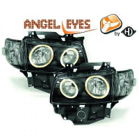 Set de deux phares principaux H7/H7 noir VOLKSWAGEN TRANSPORTEUR 4 de 97 à 3