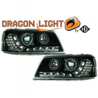 Set de deux phares principaux H1/H1 avec correcteur VOLKSWAGEN TRANSPORTEUR 5 de 03 à 09