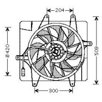 Ventilateur refroidissement du moteur CHRYSLER PT CRUISER de 00 à 05 - OEM : 5017407AB