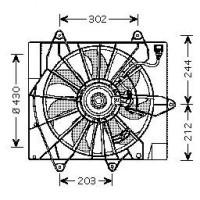 Ventilateur refroidissement du moteur CHRYSLER PT CRUISER de 06 à 09 - OEM : 5096197AA