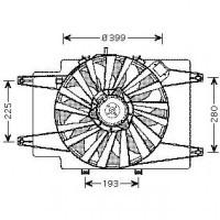 Ventilateur refroidissement du moteur après 2002 ALFA ROMEO 147 (937) de 02 à 04 - OEM : 46743391