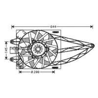 Ventilateur refroidissement du moteur avec climatisation FIAT PANDA (169) de 03 à 12 - OEM : 51764536