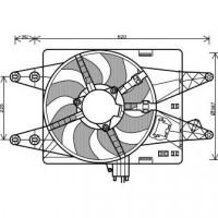 Ventilateur refroidissement du moteur sans climatisation pour boite manuel FIAT DOBLO (119, 223) de 00 à 05 - OEM : 46737733