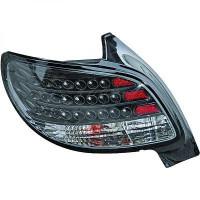 Kit de feux arrières version LED noir PEUGEOT 206 de 98 à 05