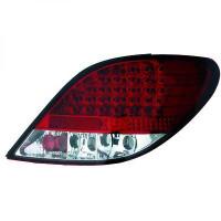 Kit de feux arrières blanc/rouge LED PEUGEOT 207 de 06 à 12