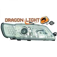 Set de deux phares principaux H1/H1 chrome PEUGEOT 306 de 97 à 00