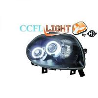Set de deux phares principaux H1/H1 noir RENAULT CLIO 2 de 98 à 01